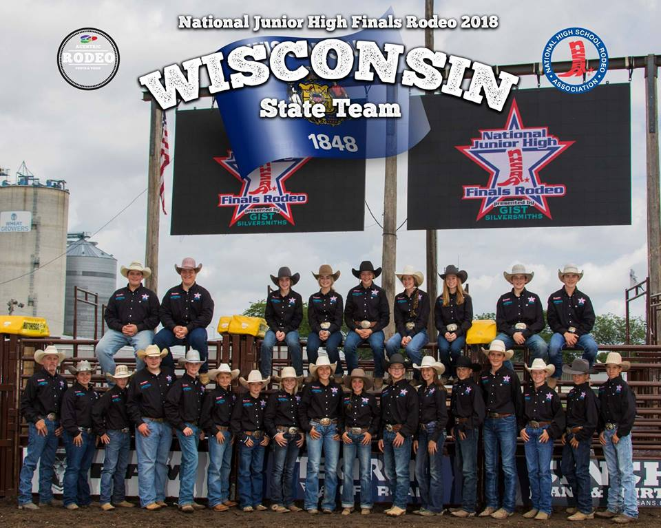 2018 National Junior High Finals Rodeo Wisconsin State Team
